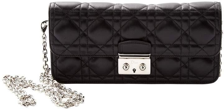 Christian Dior Miss leather clutch bag