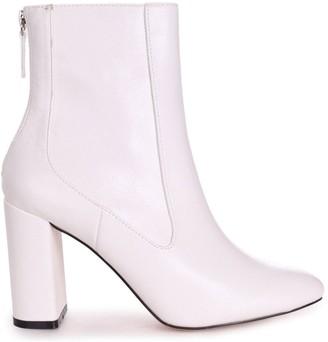 Linzi ONLY LOVE - White Nappa Round Toe Block Heeled Boot
