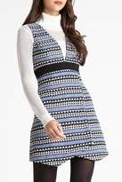 BCBGeneration Striped Jacquard Dress