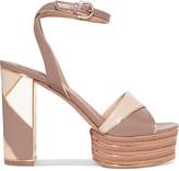 Salvatore Ferragamo Gaga paneled leather platform sandals