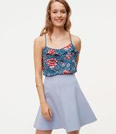 LOFT Petite Pull On Flippy Skirt