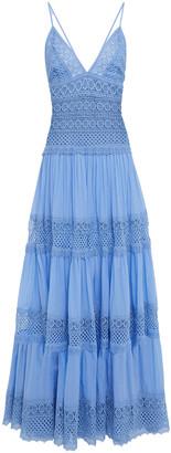 Charo Ruiz Ibiza Miriam Paneled Cotton-blend Guipure Lace And Voile Maxi Dress