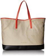 Armani Jeans Canvas Logo Beach Tote Bag