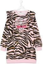 Kenzo metallic tiger print sweatdress - kids - Cotton - 14 yrs