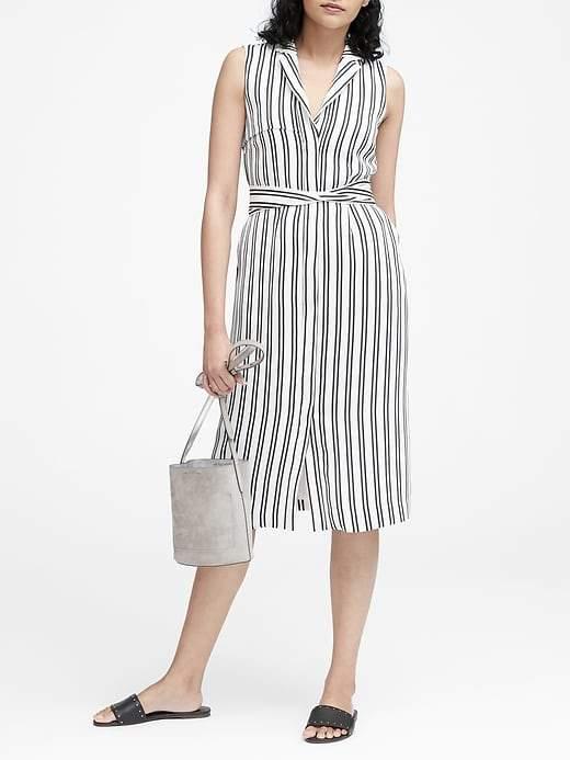 Banana Republic Stripe Trench Dress