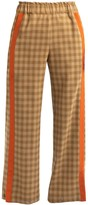 Cleo Prickett Lux Trouser With Textured Stripe Made From 'Soft Touch' Savile Row Wool