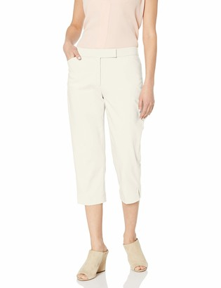 Ruby Rd. Women's Classic Fly Front Double-face Stretch Capri