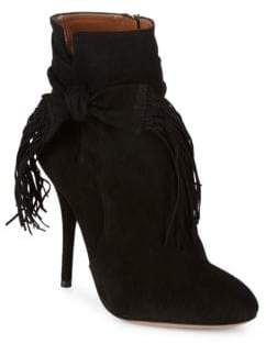 Aquazzura Lorhigbo Suede Stiletto Booties