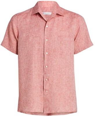Loro Piana Linen Short-Sleeve Sport Shirt