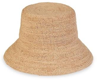 LACK OF COLOR Utopia Inca Raffia Bucket Hat