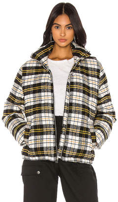 KENDALL + KYLIE Plaid Puffer Jacket