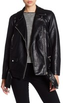 Bagatelle Oversized Vegan Faux Leather Moto Jacket