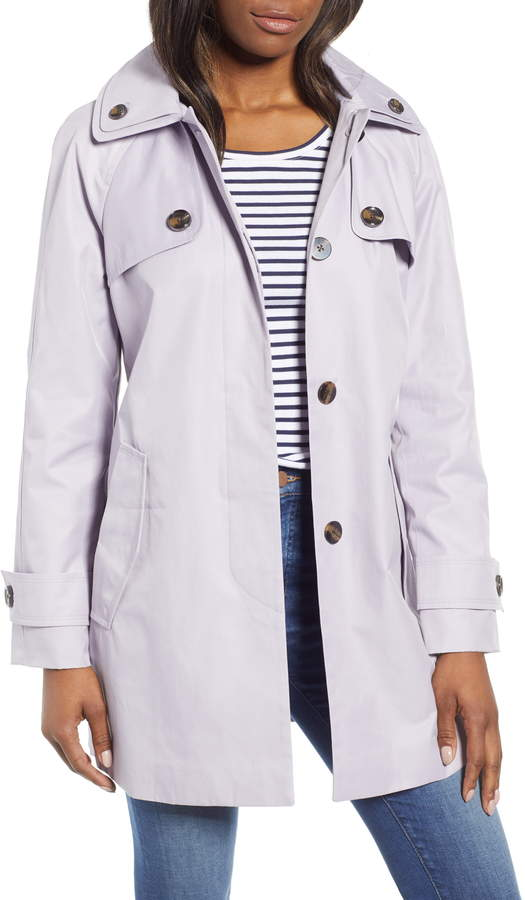 London Fog Water Repellent Short Trench Coat