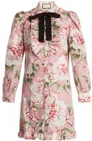 Gucci Floral-print stretch-cotton shirtdress