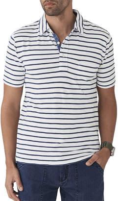 Faherty Men's Breton Striped Pocket Polo Shirt