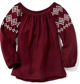 Old Navy Embroidered-Sleeve Boho Top for Girls