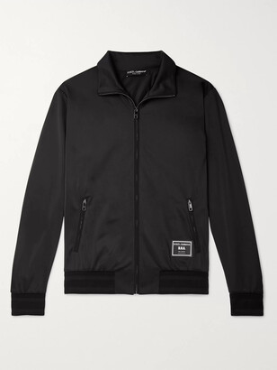 Dolce & Gabbana Slim-Fit Logo-Appliqued Satin-Jersey Track Jacket