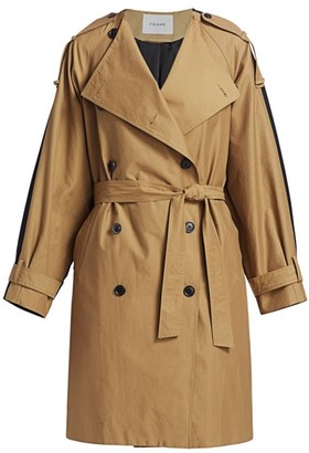 Frame Colorblocked Trench Coat