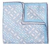 hook + ALBERT Men's Batik Patterned Silk Pocket Square