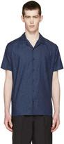 Fendi Indigo Chambray Topstitched Shirt