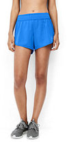Lands' End Women's Speed Running Shorts-Brilliant Fuchsia