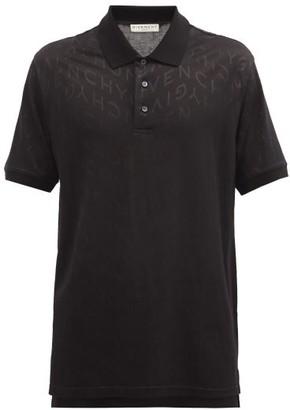 Givenchy Refracted Logo-jacquard Polo Shirt - Black