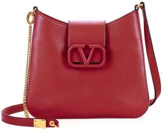 Valentino logo clasp shoulder bag rose
