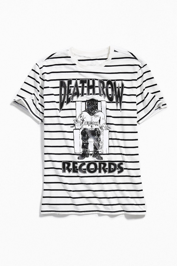 Urban Outfitters Death Row Records Striped Tee