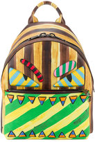 Fendi marker-style printed backpack - men - Leather/Nylon - One Size