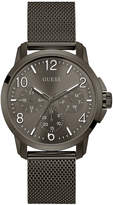 GUESS Men's Gunmetal Stainless Steel Mesh Bracelet Watch 42mm