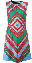 Diane von Furstenberg geometric print flared dress