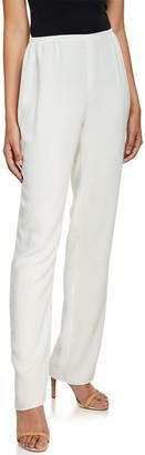 Caroline Rose Suzette Crepe Straight-Leg Pants