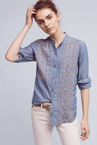 Tiny Embroidered Chambray Buttondown