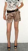 Imitation Bronze Satin Shorts