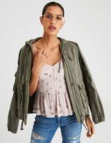 American Eagle Outfitters AE Cinched Tencel Military Jacket