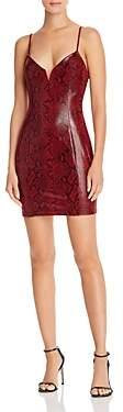 ASTR the Label Come Slither Snake Print Dress