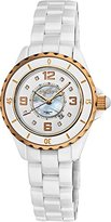 Akribos XXIV Women's AKR485WTR Allura Rose-Tone White Ceramic Watch