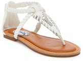 Stevies Girls' #DEZZY Woven Detail Thong Sandals - White