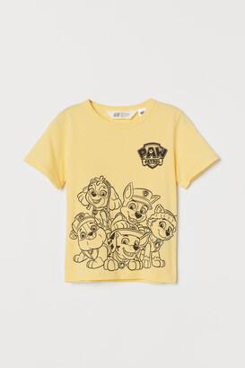 H&M Printed T-shirt - Yellow