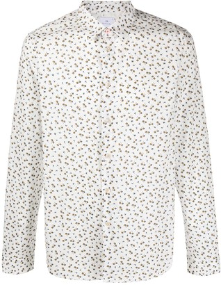 Paul Smith Floral-Print Point-Collar Shirt