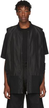 D.gnak By Kang.d Black Embroidered Logo Vest