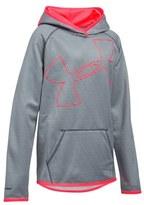 Under Armour Girl's 'Big Logo' Hooded Fleece Pullover