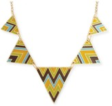 Z Designs Enamel Chevron Triangle Necklace