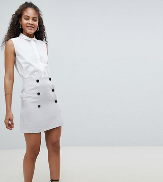 Asos DESIGN TALL double breasted mini skirt