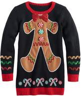 It's Our Time Girls 7-16 & Plus Size Embellished Ugly Christmas Tunic Sweater