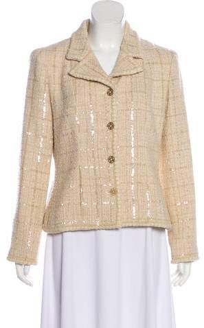 Chanel Sequined Tweed Blazer