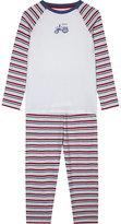 The Little White Company Tractor print pyjamas 7-12 years