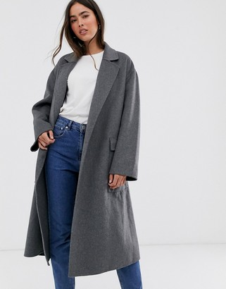 French Connection belted wrap coat