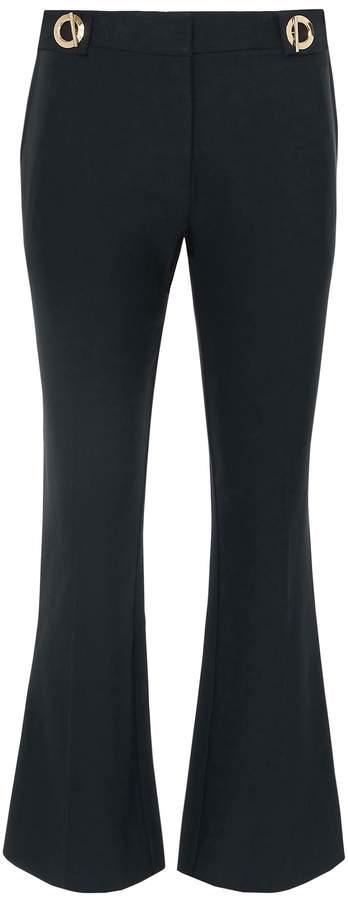 Derek Lam 10 Crosby Grommet Detail Crop Trousers