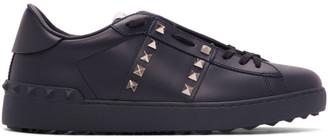 Valentino Navy Garavani Rockstud Untitled Sneakers